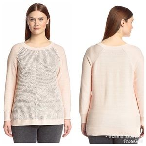 NYDJ pixie peach sequin sweater